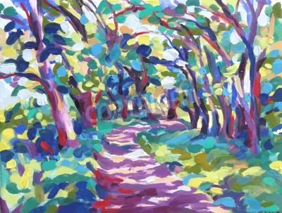 Image peinture à l'huile d'illustration de vecteur. I, l'Artiste, détient le copyright