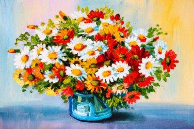 Image Peinture à l'huile - nature morte, un bouquet de fleurs