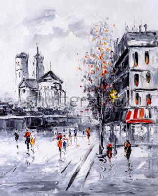 Image Peinture à l'huile - Street View of Paris
