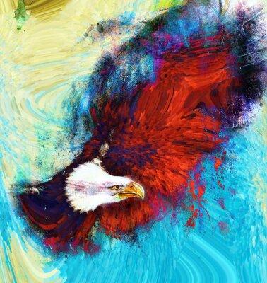 Image peinture aigle sur un fond abstrait, USA Freedom Symboles