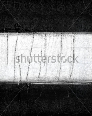 Image Peinture d'art abstrait noir et blanc