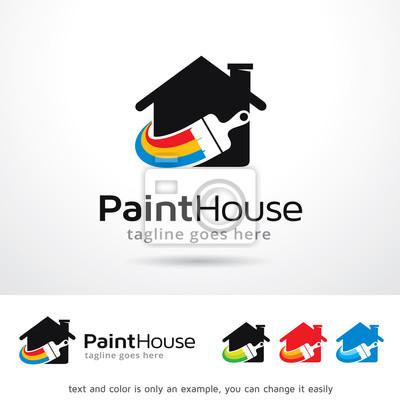 Image: Peinture, maison, logo, modèle, conception, vecteur