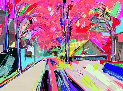 Image Peinture numérique de paysage hivernal