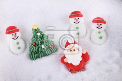 Père Noël bonhomme de neige et arbre de Noël