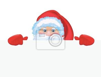 Père Noël reste par vide avec de la place pour votre texte