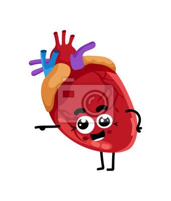 Dessin Coeur Humain personnage de dessin animé mignon coeur humain peintures murales