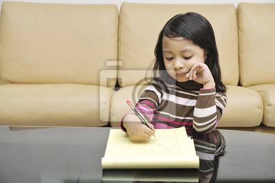 Petite écriture de fille
