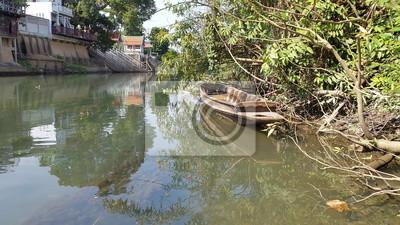 Phetchaburi, rivière, vie, Phetchaburi, Thaïlande