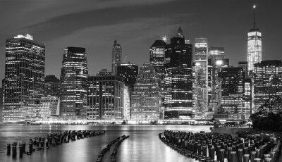 Image Photo en noir et blanc du secteur riverain de Manhattan, NYC, Etats-Unis.