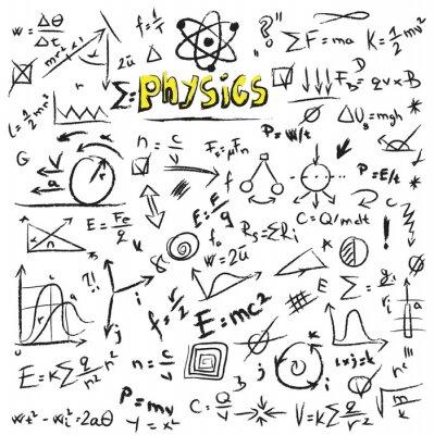 Image Physique Doodle formules fond, texture et la structure