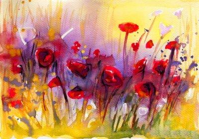 Image Piekny obraz czerwonych Maków