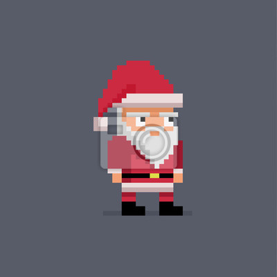 Image Pixel Art Mignon Père Noël