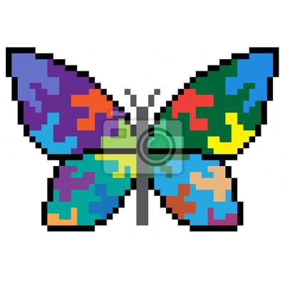Image Pixel Art Papillon