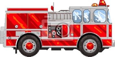 Image Pixelart Camion De Pompier