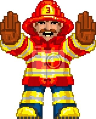 Pixel Art Pompier