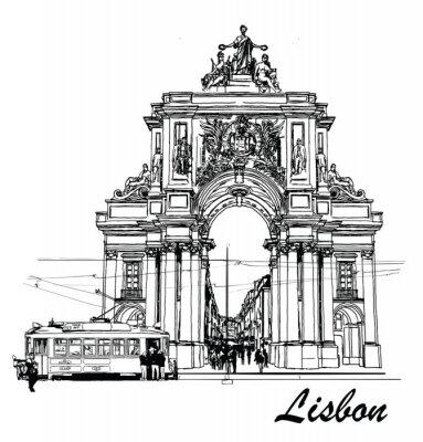 Image Place du commerce à Lisbonne