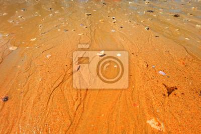 Plage de sable, zone de l'île d'Andaman, Thaïlande.