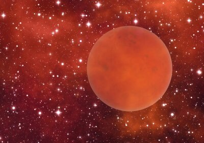 planet mars on space stars backgrounds