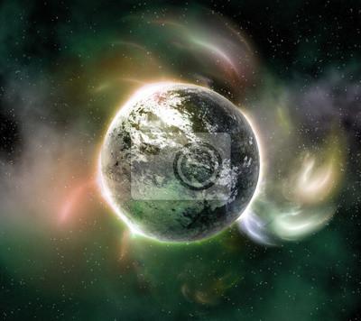Planète dans l'espace