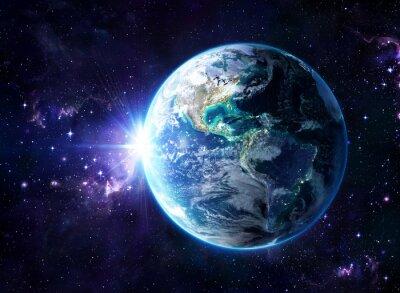 Image planète dans le cosmos - vue Usa - Usa