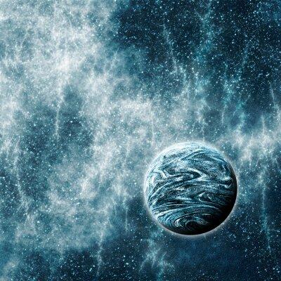 Image Planète extrasolaire dans un espace déformé