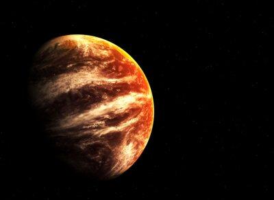 Image Planète rouge et les étoiles