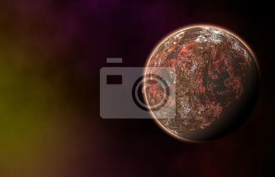 planète rouge sur cosmos étoiles milieux