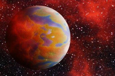 planète terre avec une ombre latérale sur le fond des étoiles cosmos