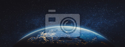 Image Planète Terre - Europe. Éléments de cette image fournie par la NASA