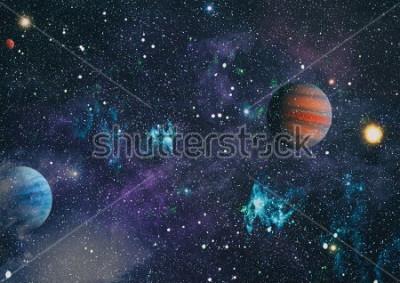 Image planètes, étoiles et galaxies dans l'espace extra-atmosphérique, beauté de l'exploration spatiale. Éléments fournis par la NASA