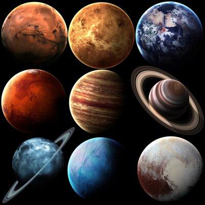 Image Planètes isolées du système solaire de haute qualité. Éléments de cette image fournis par la NASA