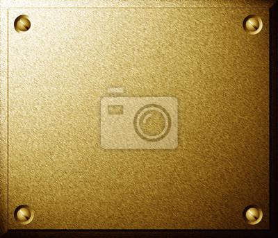 Plaque d'or avec des vis