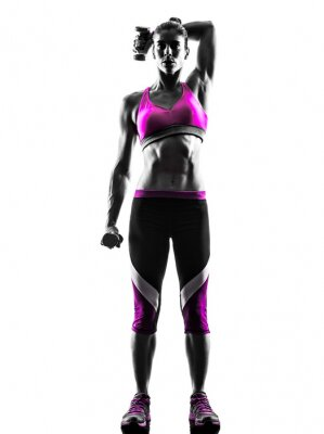 Image Poids femme d'exercices de fitness silhouette