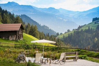 Image Point de détente pittoresque pour se détendre dans les Alpes