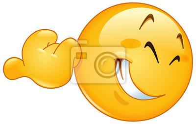 Pointage Pouce Emoticone Peintures Murales Tableaux Emoticones Smiley Smileys Myloview Fr