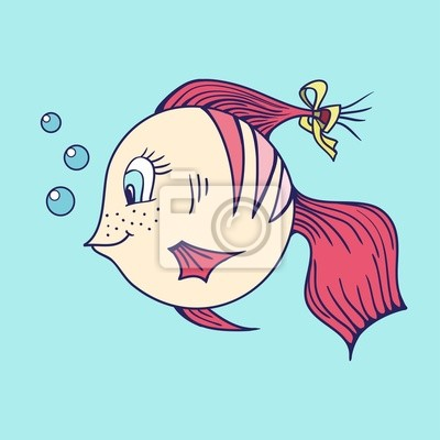 Poissons dans la mer.