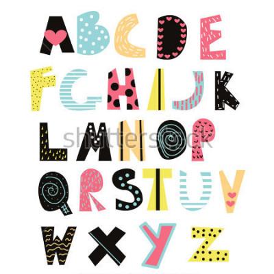 Image Police des enfants drôles. Alphabet mignon pour l'éducation ou la décoration. Illustration de vecteur dessinés à la main.