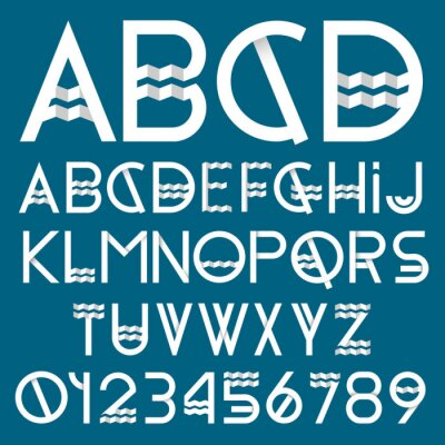 Image police du papier et des numéros