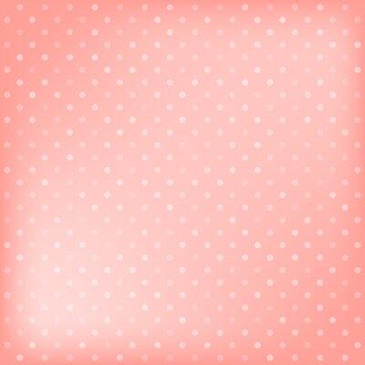 Image Polka dot fond rose