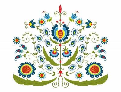 Image Polski Wzór z dekoracyjnymi kwiatami