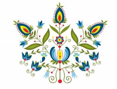 Image Polski Wzór z ozdobnymi kwiatami