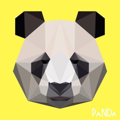 Image Polygonal, géométrique, panda, portrait