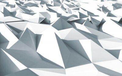 Image Polygones 3D Beau cristaux fond blanc texture