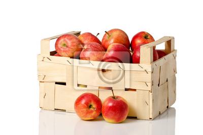 pommes dans les fruits de caisse