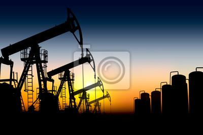 pompes à huile silhouette