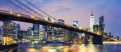 Image Pont de Brooklyn au crépuscule