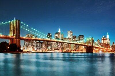 Image Pont de Brooklyn la nuit