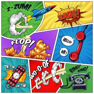 Image Pop art coloré concept