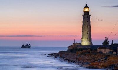 Image porte-bateau et le phare