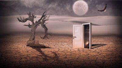 Image Porte ouverte montrer une scène de l'espace en quelque sorte semi-transparent dans stran